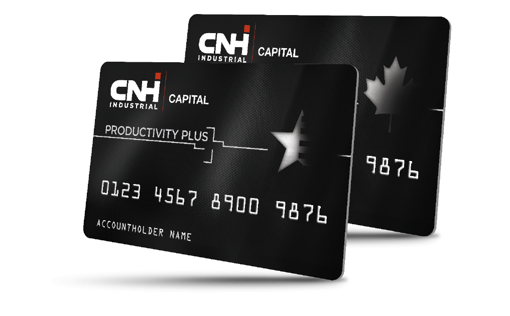 CNHi Capital Productivity Plus cards