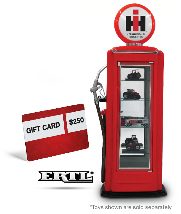 Case IH Gas Pump Display case & gift card
