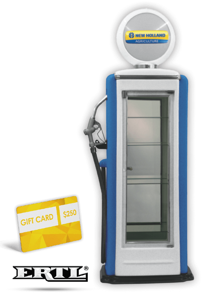 New Holland Gas Pump Display case & gift card